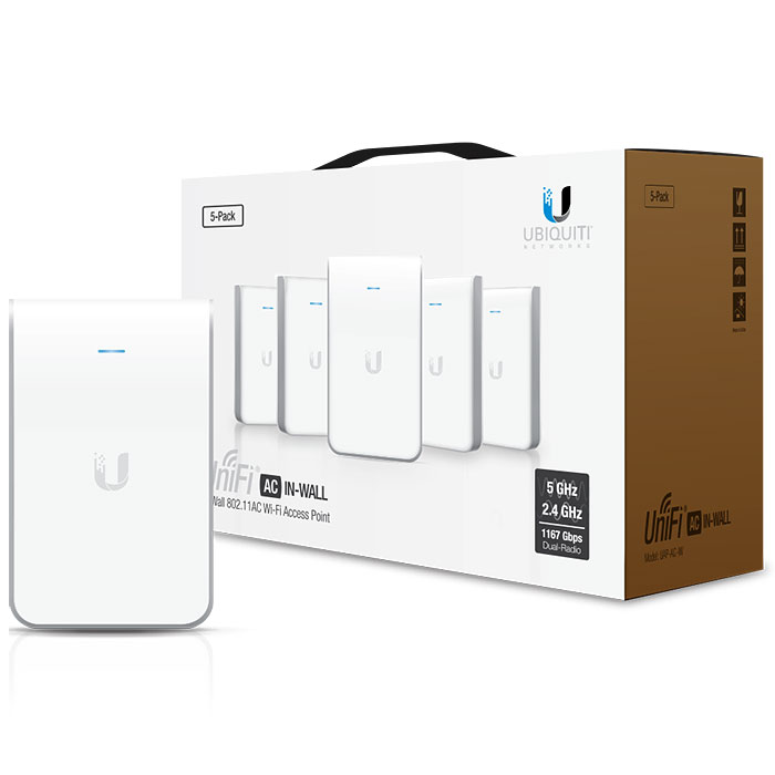 UniFi AC In Wall Access Point, 5-pack